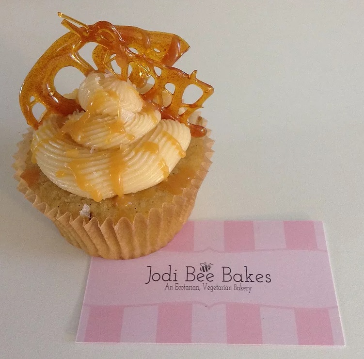 cupcake with business card